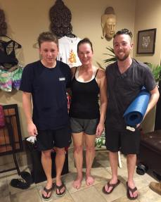 Ben's 1st hot yoga class w/Ethan and me